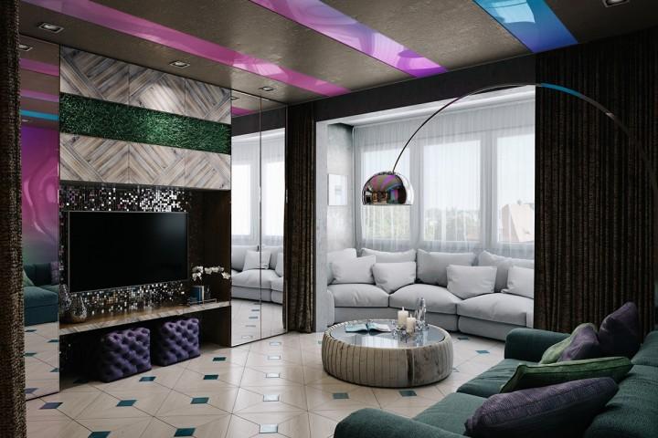 Obývací pokoj ideální na večírky