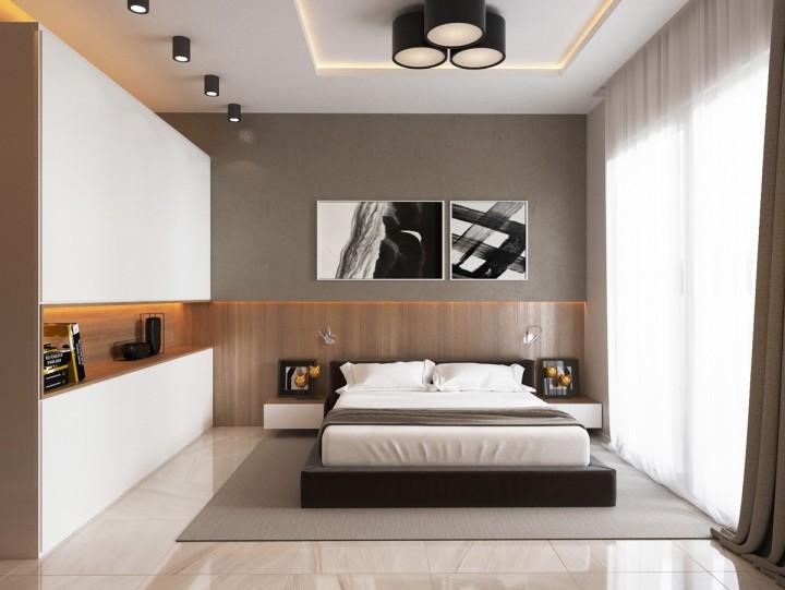 Ložnice s chytrým čelem postele