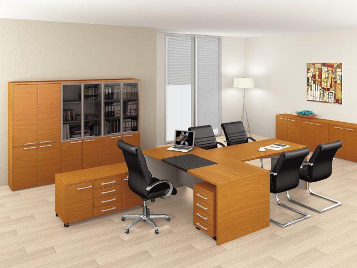 Elegantní kancelář s nábytkem Level