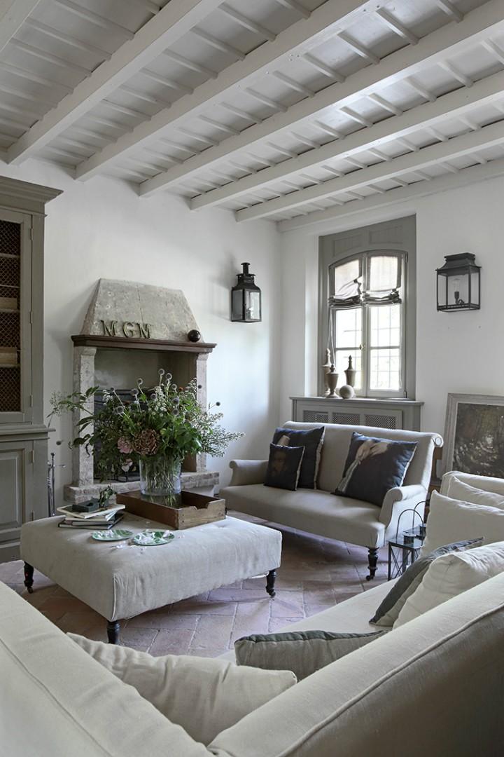 Rustikální styl v obývacím pokoji