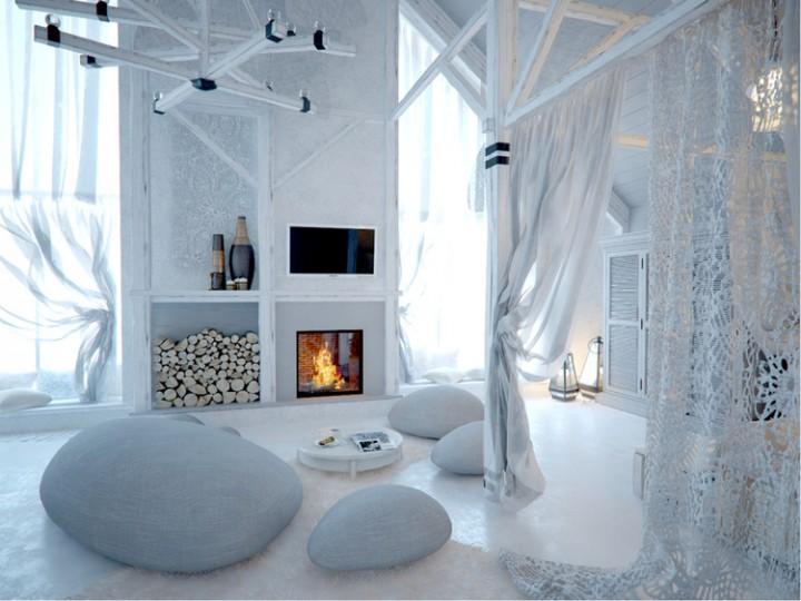 Netradiční obývací pokoj