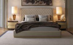 Luxusní postel s vysokým čelem