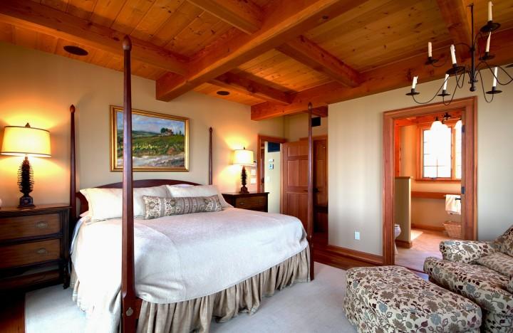 Dřevo vykouzlí v ložnici útulnou atmosféru
