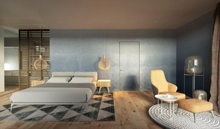 Stylová ložnice vhodná k relaxaci