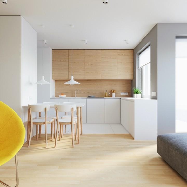 Moderní kuchyň v interiéru