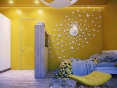 Dětský pokoj ve žluté barvě