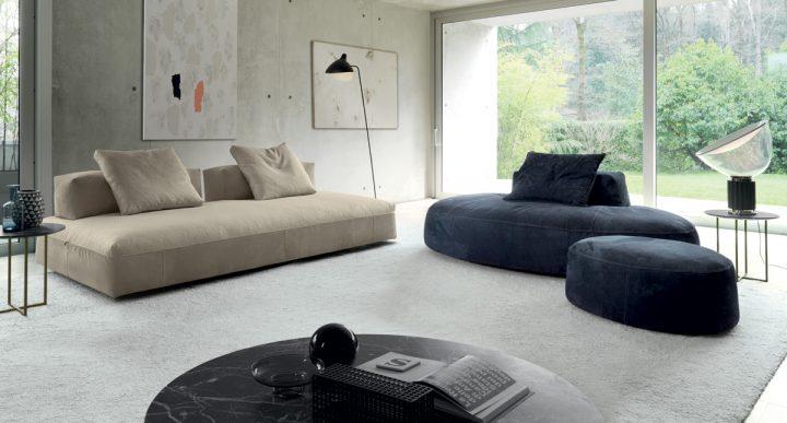 Industriální obývací pokoj