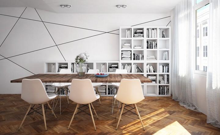 Geometrické tvary v interiéru