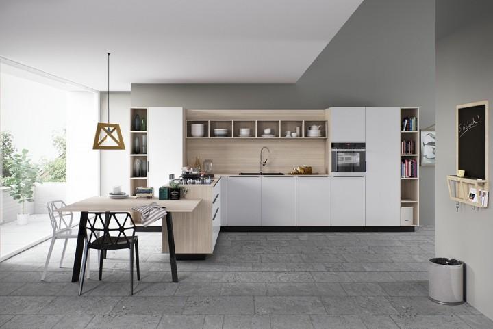 Kuchyň v neutrálních barvách