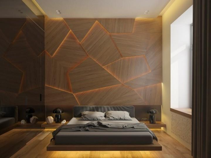 Geometrické tvary v ložnici
