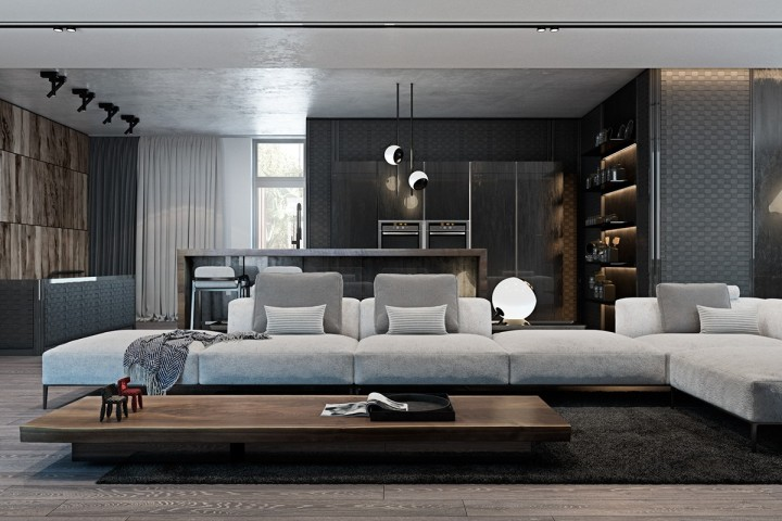 Šedá je ta pravá barva pro obývací pokoj