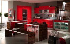 Moderní červená kuchyně