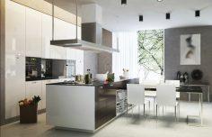 Luxusní designová kuchyně s ostrůvkem