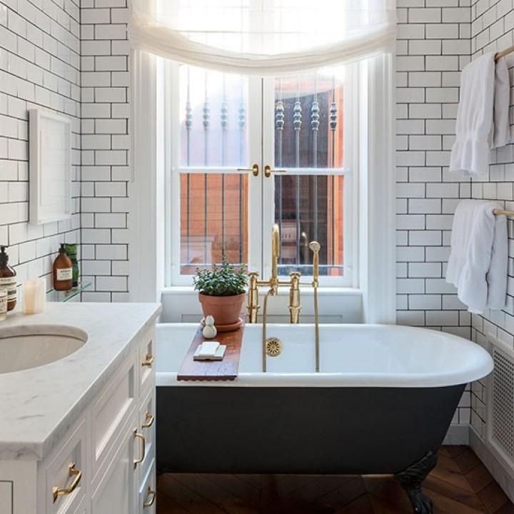 Koupelna ve vintage stylu