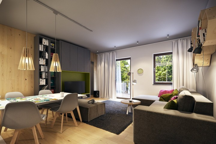 Hra s barvami a materiály v interiéru