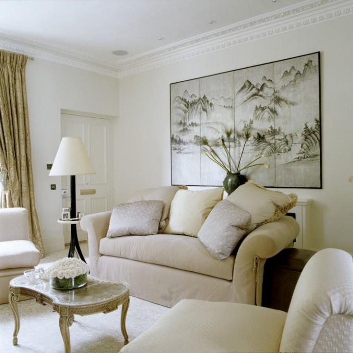 Obývací pokoj s příjemnou atmosférou