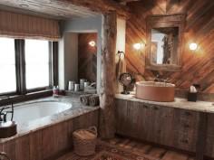 Rustikální koupelna