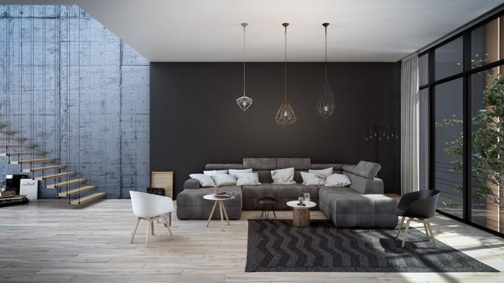 Hra s prostorem v obývacím pokoji