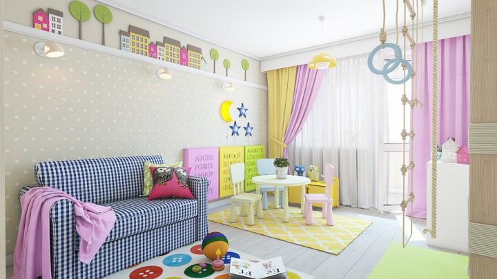 Dětský pokoj v hravých barvách