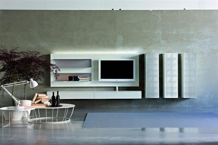 Moderní televizní stěna